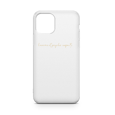 CLEAR SOFT CASE WITH GOLDEN SIGNATURE