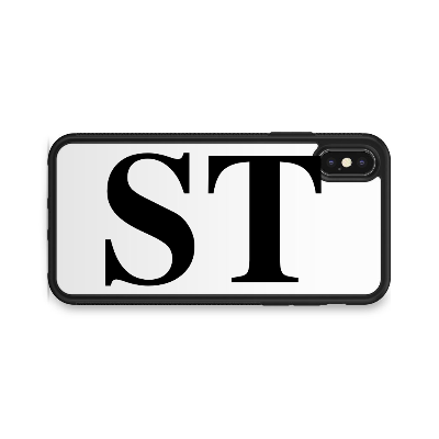 VERTICAL ENORMOUS INITIALS WHITE BACKGROUND CASE