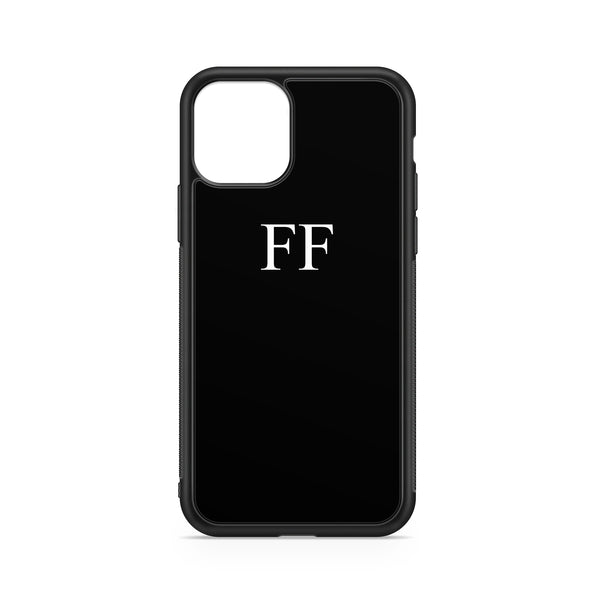 WHITE BLACK INITIALS CASE