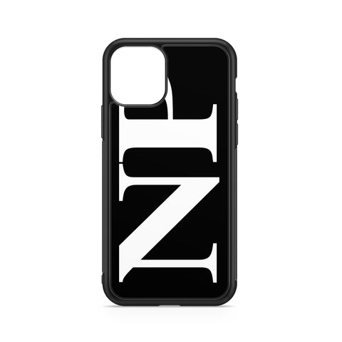 VERTICAL ENORMOUS INITIALS BLACK BACKGROUND CASE