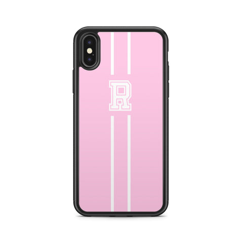 INITIALS LINE WHITE PINK CASE