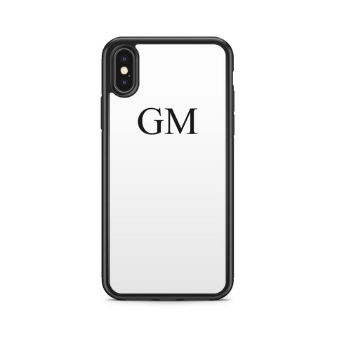 BLACK INITIALS ON WHITE CASE