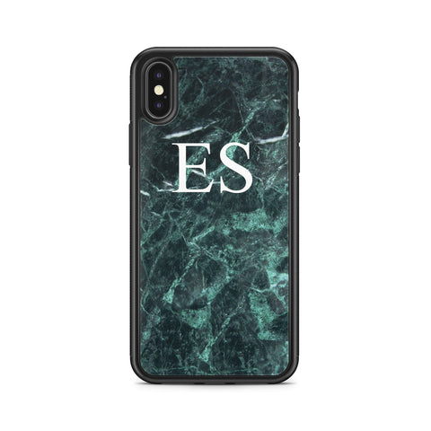 INITIALS GREEN MARBLE CASE