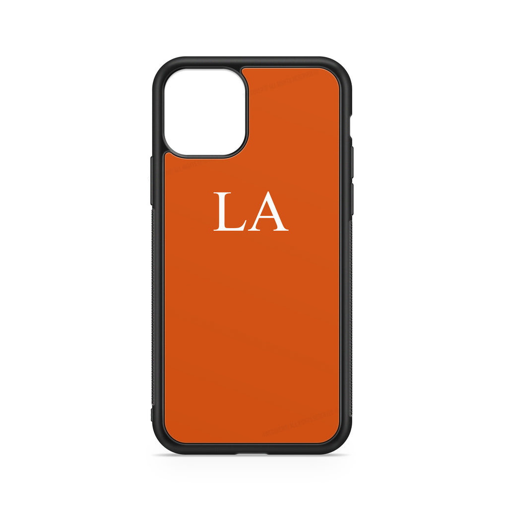 "INITIALS ORANGE ""FLUO"" CASE"