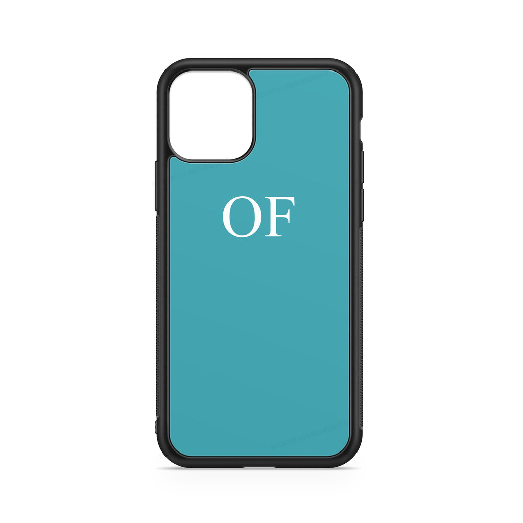 "INITIALS LIGHT BLUE ""FLUO"" CASE"