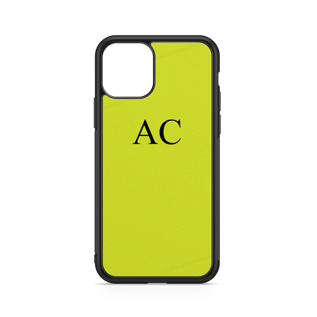 "INITIALS YELLOW ""FLUO"" CASE"
