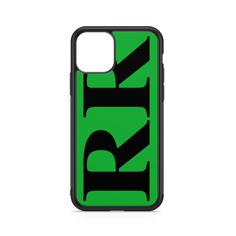 VERTICAL ENORMOUS INITIALS GREEN BACKGROUND CASE