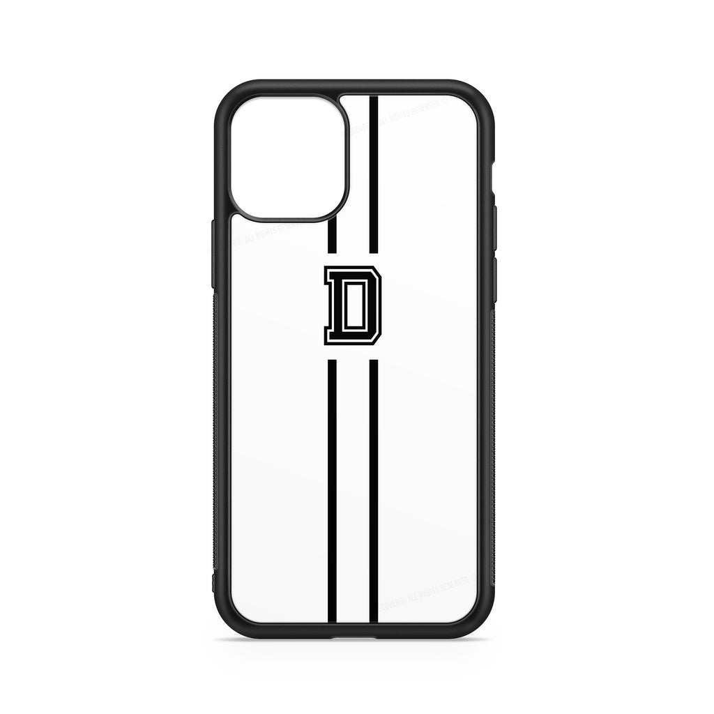INITIALS LINE BLACK WHITE CASE