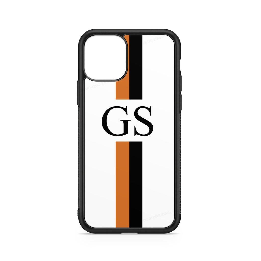 INITIALS LINE ORANGE BLACK CASE