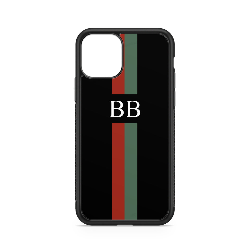 INITIALS LINE RED GREEN CASE