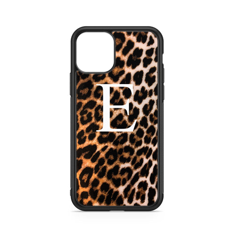 BIG INITIALS ON BROWN LEOPARD CASE