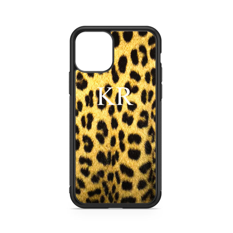 WHITE INITIALS YELLOW ANIMALIER BACKGROUND CASE