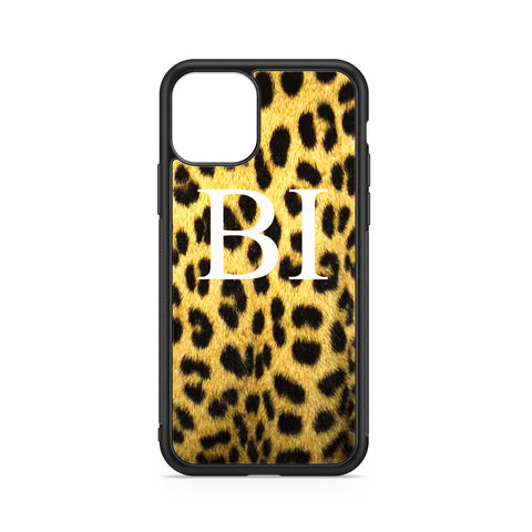 BIG INITIALS ON YELLOW LEOPARD CASE