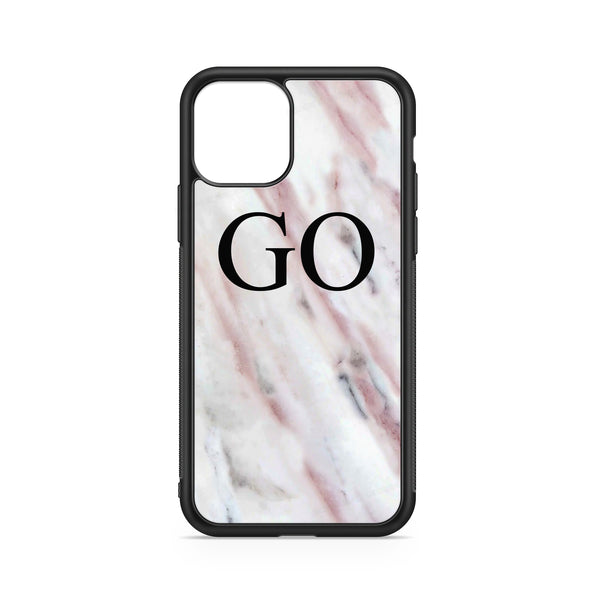 INITIALS PINK MARBLE CASE
