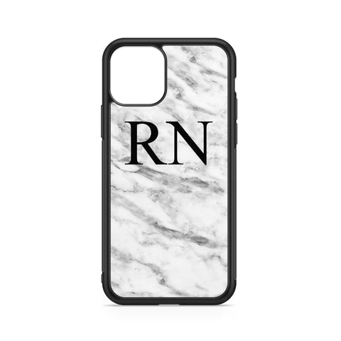 INITIALS WHITE MARBLE CASE