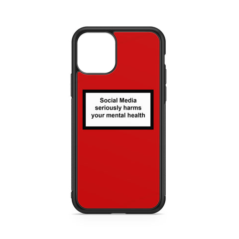 SOCIAL MEDIA WARNING MESSAGE RED BACKGROUND CASE