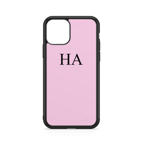 INITIALS PINK BLACK CASE