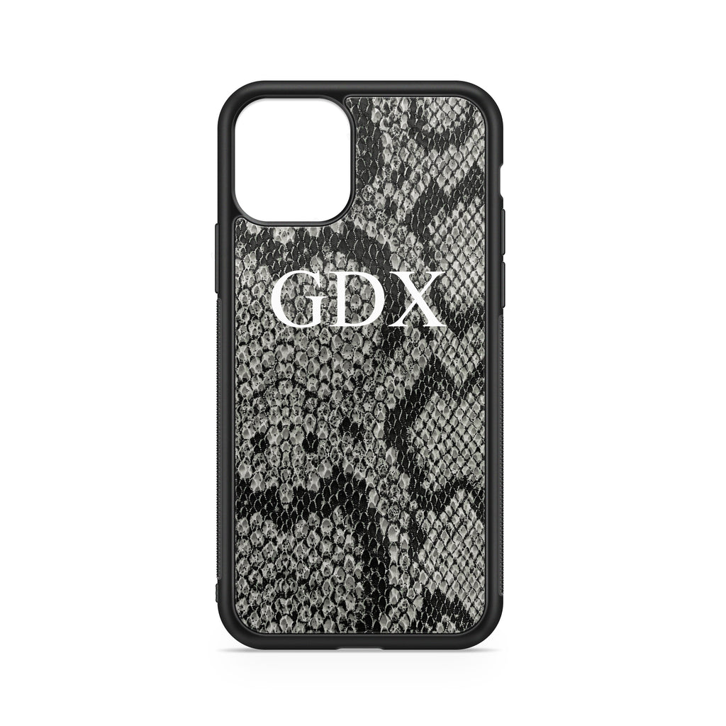 INITIALS GREY PYTHON BACKGROUND CASE