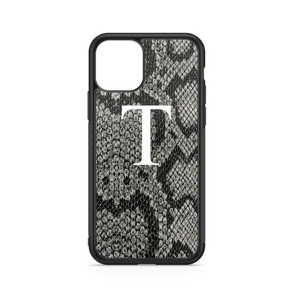 BIG INITIAL PYTHON GREY BACKGROUND CASE