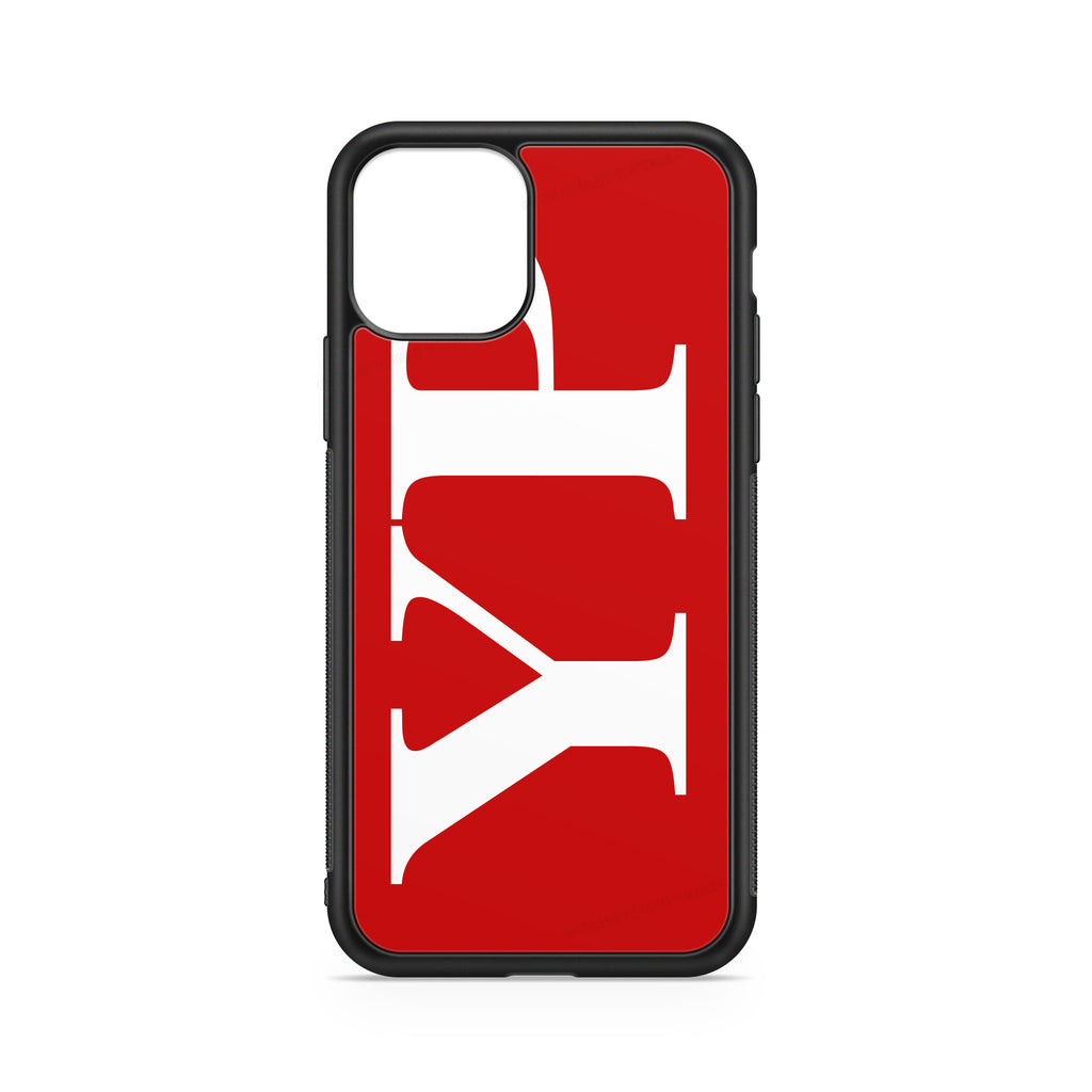 VERTICAL ENORMOUS INITIALS RED BACKGROUND CASE