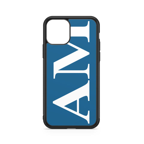 BLUE FOR SUDAN VERTICAL ENORMOUS INITIALS PHONE CASE