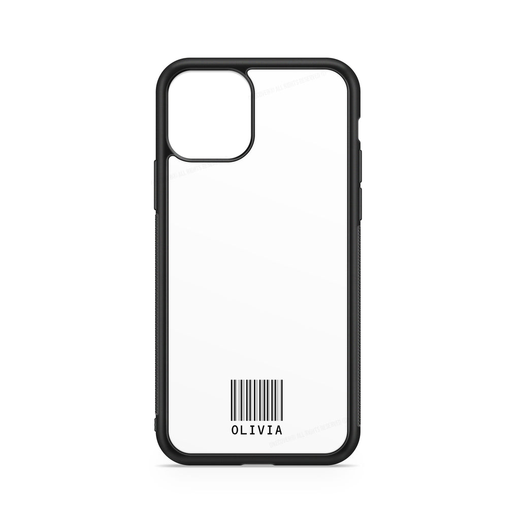BARCODE NAME BLACK WHITE CASE