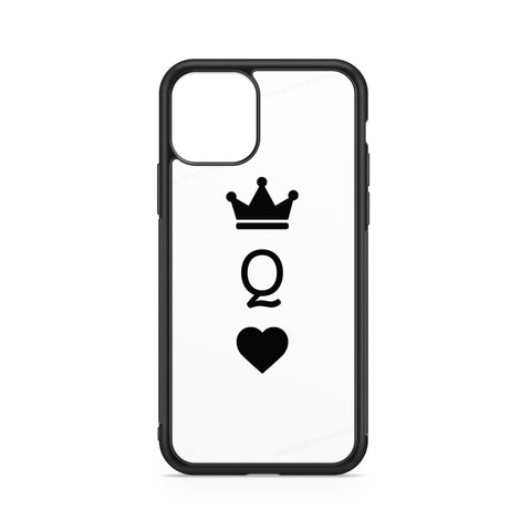 BLACK HEART KING CROWN INITIAL CASE