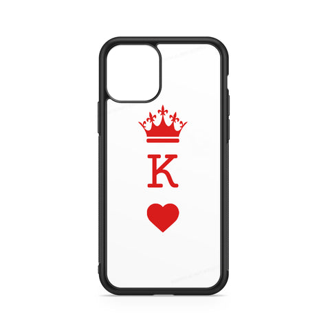 RED HEART QUEEN CROWN INITIAL CASE