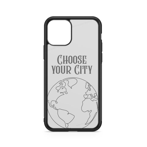 CITY CASE WITH CUSTOMIZABLE NAME ON WHITE BACKGROUND