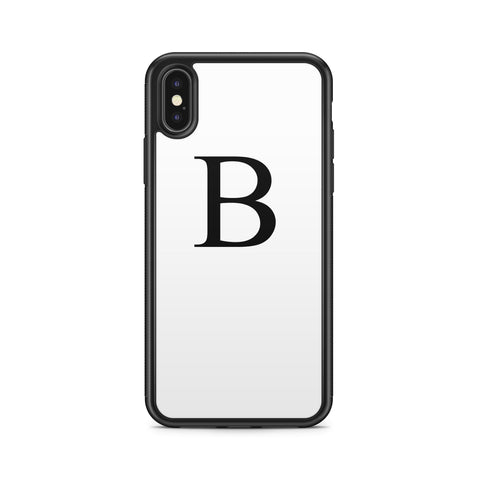 BIG INITIAL BLACK WHITE CASE