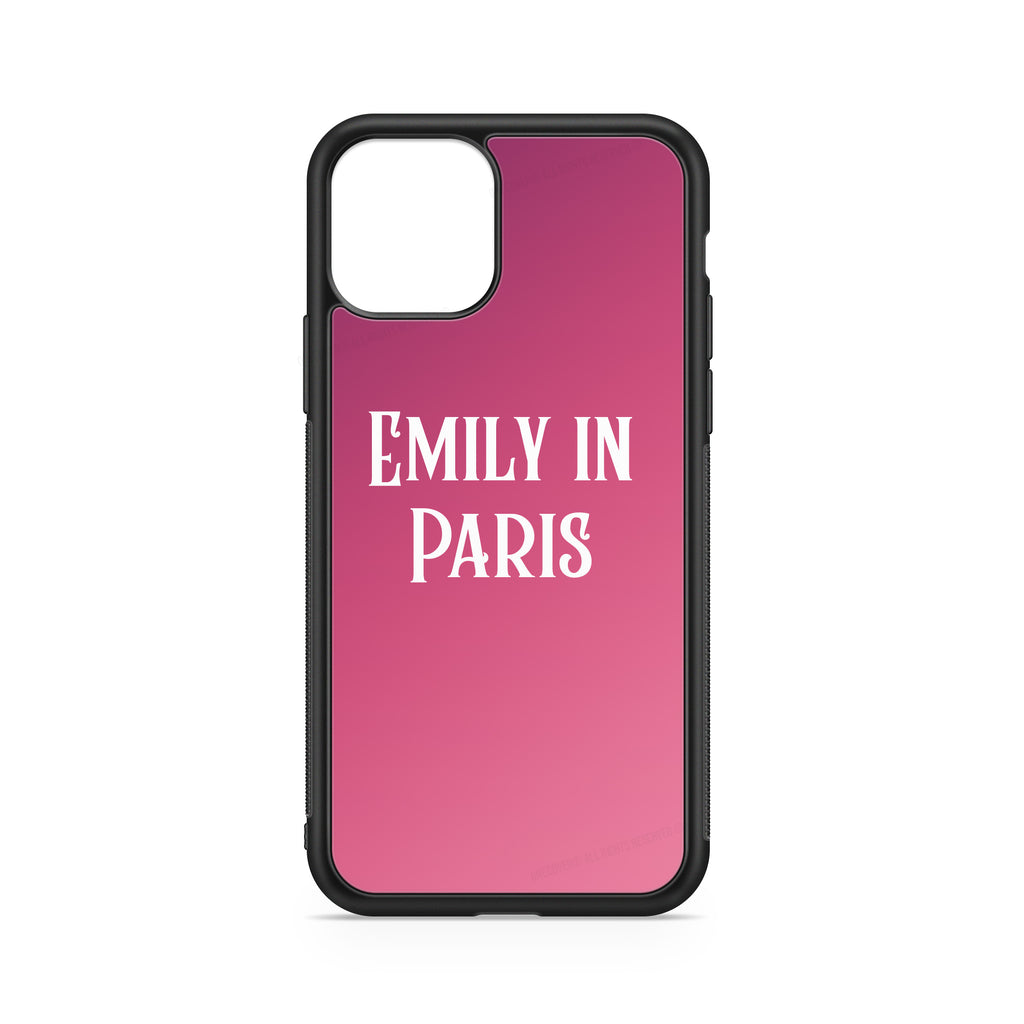 """EMILY IN PARIS""  CUSTOMIZABLE CASE PINK BACKGROUND"