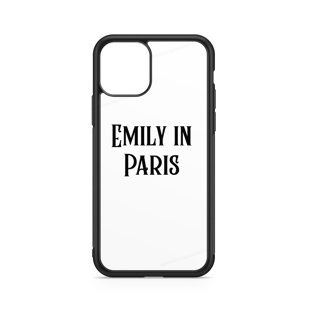 """EMILY IN PARIS"" CASE'S WITH NAME ON A WHITE BACKGROUND"