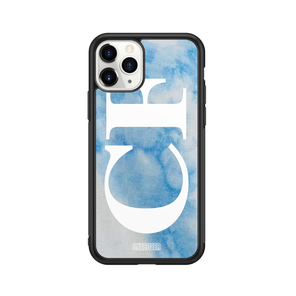 "TIE DYE FANTASY ""B"" WITH VERTICAL ENORMOUS INITIALS PHONE CASE"