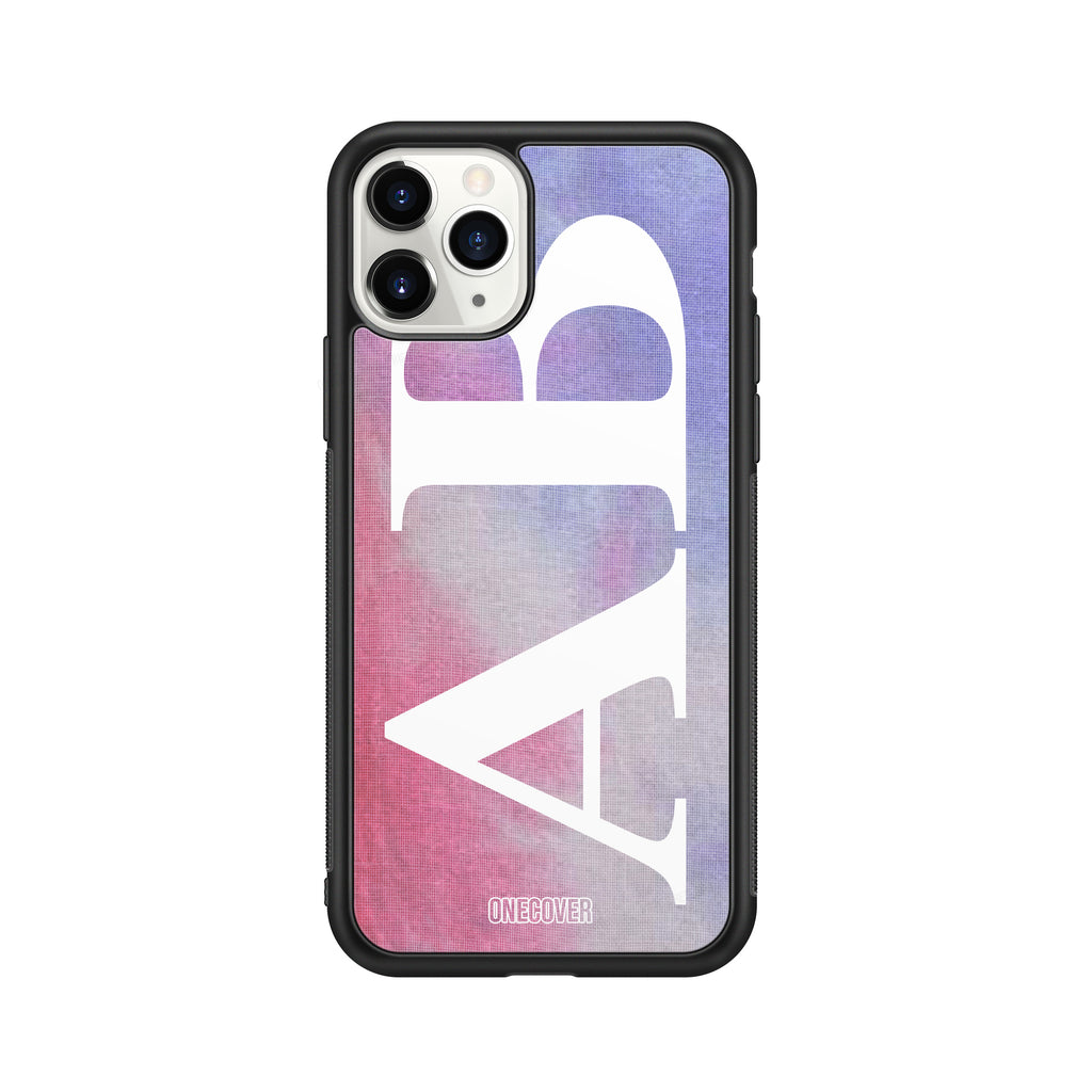 "TIE DYE FANTASY ""C"" WITH VERTICAL ENORMOUS INITIALS PHONE CASE"