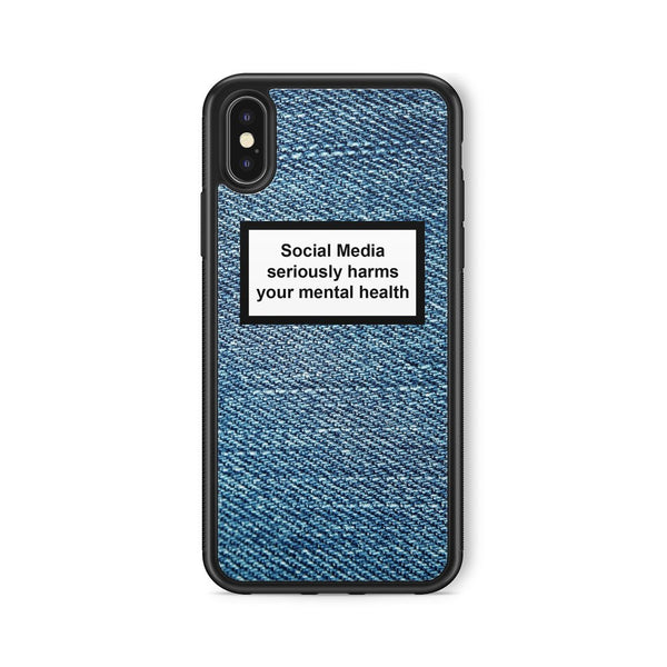 SOCIAL MEDIA WARNING MESSAGE JEANS BACKGROUND CASE