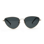 Black Gold Retro Cat Sunglasses