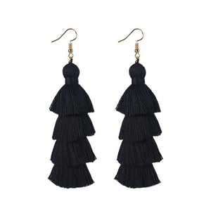 Black Layered Earrings