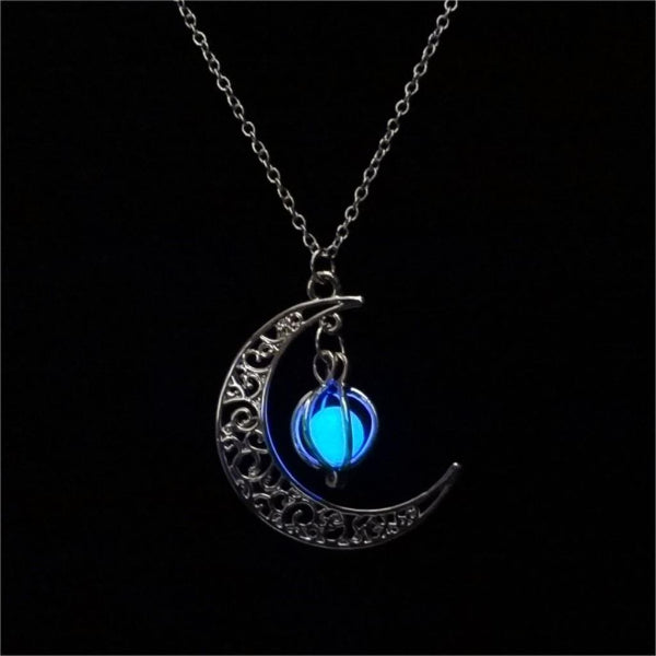 Blue Glow In The Dark Pendant