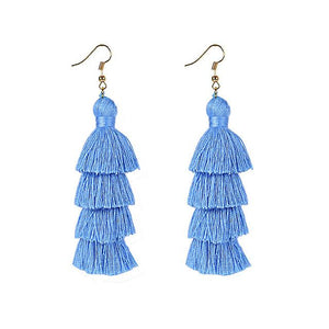 Blue Layered Earrings