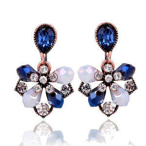 Blue Petals Stud Earrings
