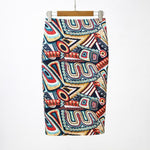Colourful Floral Pencil Skirt
