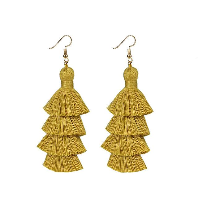 Ginger Yellow Layered Earrings
