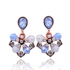 Light Blue Petals Stud Earrings