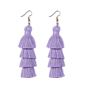 Light Purple Layered Earrings
