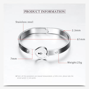 Heart Lock Key Bracelet Pendant For Couples Specs