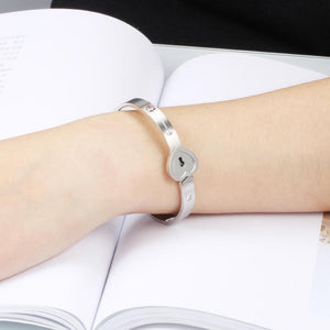 Heart Lock Bracelet For Couples