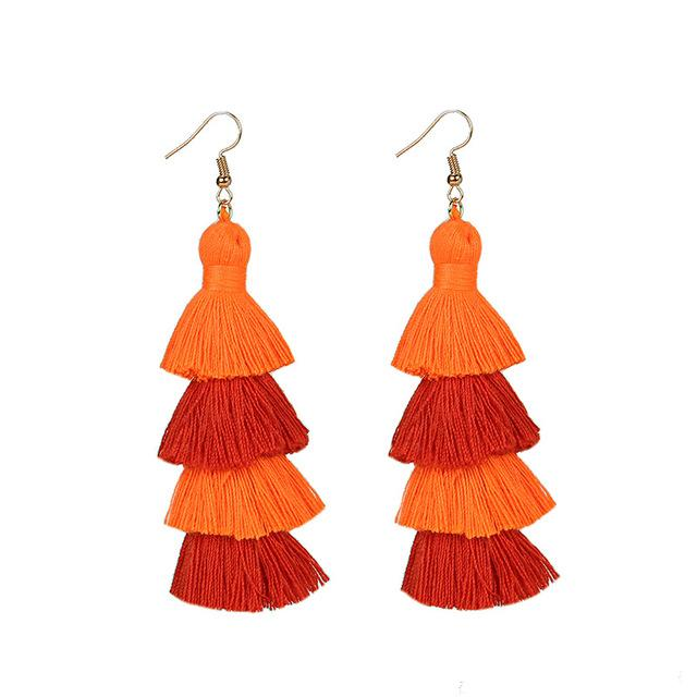 Orange Layered Earrings