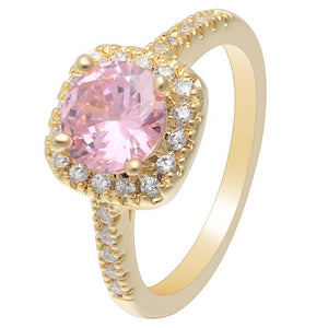 Pink Gold Cubic Zirconia Ring