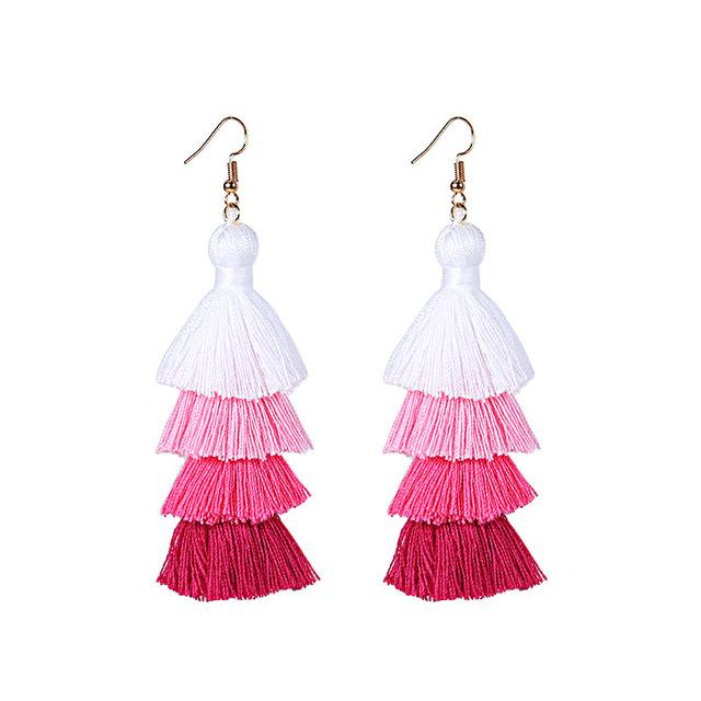 Pink Layered Earrings