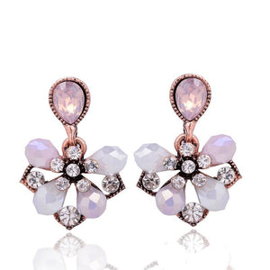 Pink Petals Stud Earrings
